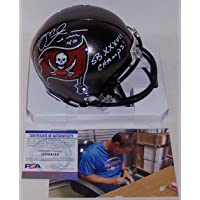 $119 » Mike Alstott Autographed Hand Signed Tampa Bay Bucs Mini Football Helmet - with Super Bowl XXXVII Champs inscription - PSA/DNA