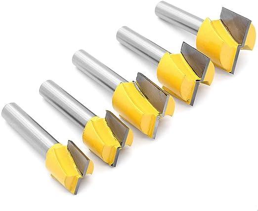 DingGreat 5Pcs 8 mm Gambo Fresa per la Pulizia del Fondo Fresa per la Lavorazione del Legno Utensile per Ll Taglio di Macchine per Intagliare CNC Diametro 16//18//20//22//25mm