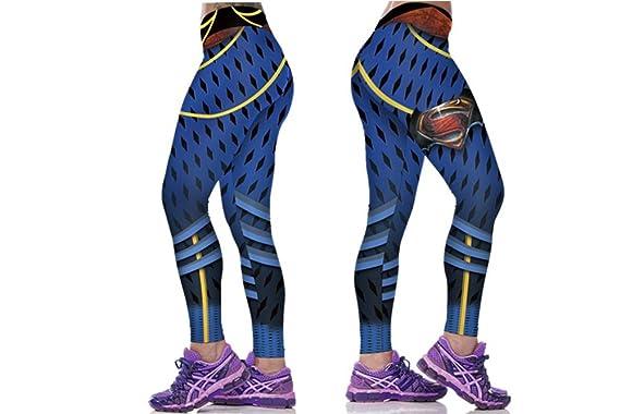 db75c32f65eac Amazon.com: Women's Sporty Superman Leggings- ONE SIZE: Clothing
