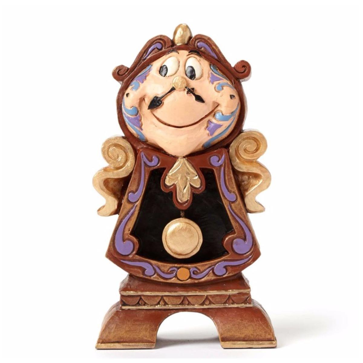 Disney Traditions Keeping Watch Cogsworth Figure, Black