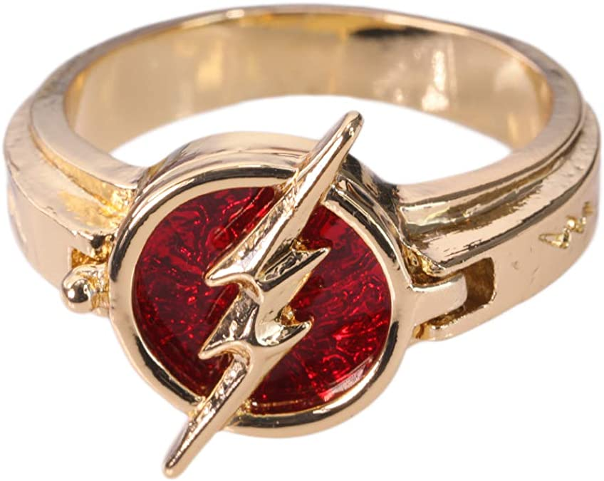 The flash Anillo Barry Allen Ring Abierto Justice League Heroes Lighting Knight Última con Caja Costume Accesorio Disfraz Regalo Colección Navidad Vintage Unisex para Adultos(diámetro:2cm): Amazon.es: Joyería