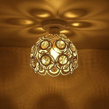 Elegant Kristall Deckenleuchte Vintage Antik Große Runde Trommel Licht Kronleuchter  Deckenleuchte Schatten Montage Runde Universal
