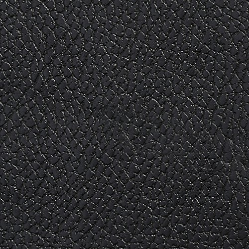 G417 Black Pebbled Breathable Leather Look and Feel Upholstery by The Yard