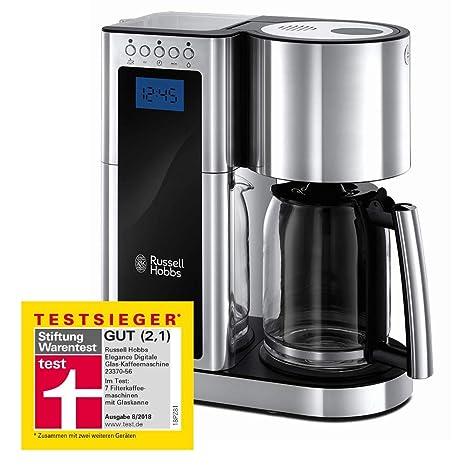 10 Tassen Filterkaffeemaschine Glaskanne Filter Kaffeemaschine Warmhalteplatte