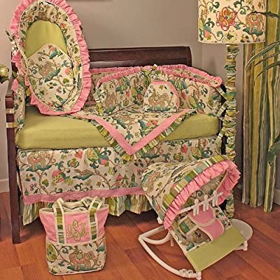 Hoohobbers Cirque Pink 4 Piece Crib Bedding Set from Hoohobbers