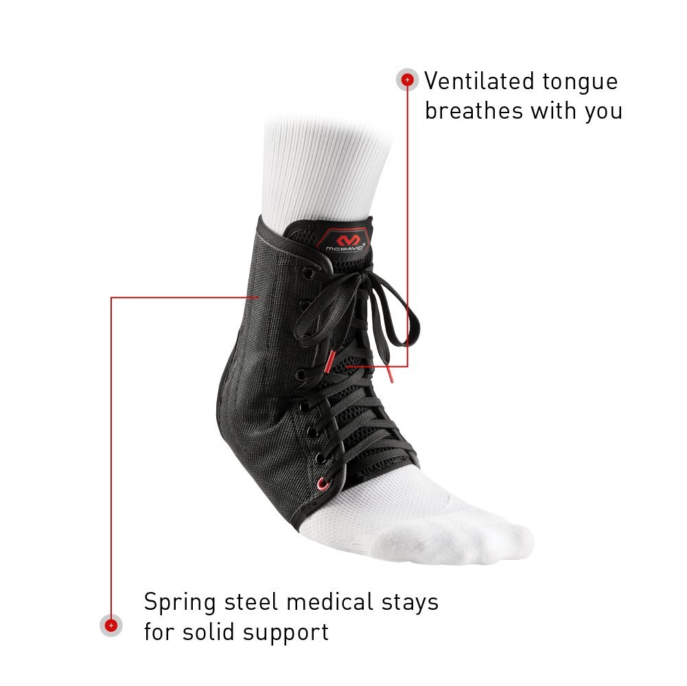 McDavid Lightweight Ankle Brace (Black, X-Small) by McDavid (Image #8)