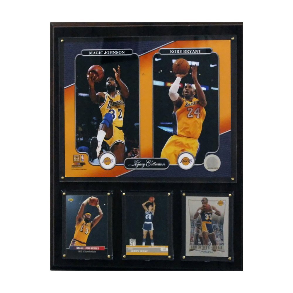 NBA Los Angeles Lakers Magic Johnson/Kobe Bryant 12x15-Inch Legacy Collection Plaque C&I Collectables Inc. 1215LAKERLEG