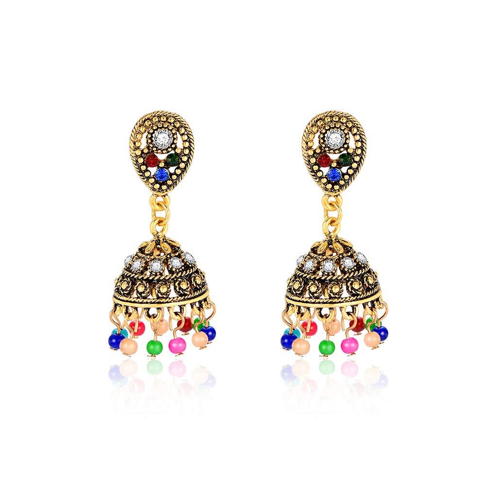 KUKALE Vintage Elegant Colorful Beads Tassel Dangle Pendant Earrings For Women /& Girls