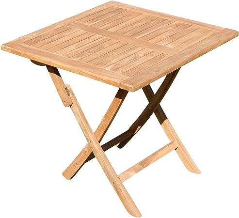 ASS ECHT Teak Klapptisch Holztisch Gartentisch Garten Tisch 80x80 cm Aves Holz Teaktisch