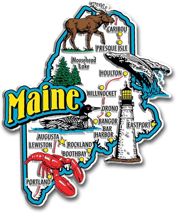 Maine State Jumbo Map Magnet