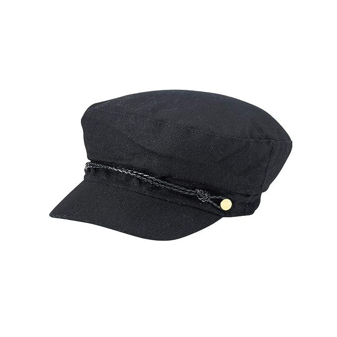 06d9586edbb3fd August Hats Womens Attention Lieutenant Cap One Size Black at Amazon ...