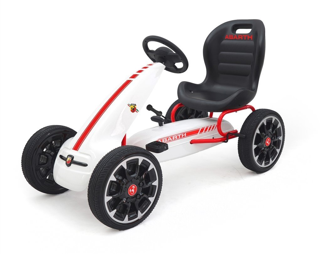 Abarth Licensed Pedal Go Kart With EVA Wheels & Clutch Gear White