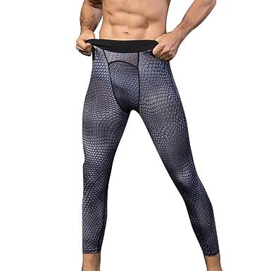 Pantalon de Sport Homme Legging de Compression Disco Vêtement Haute  élasticité Collant Base Layer T-Shirt pour Cyclisme Fitness Travail  Running  Amazon.fr  ... 6fac0520a25