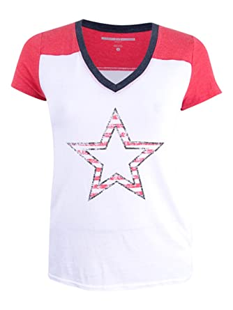 07826787 Amazon.com: Tommy Hilfiger Sport Womens Graphic Star Colorblocked T-Shirt:  Clothing