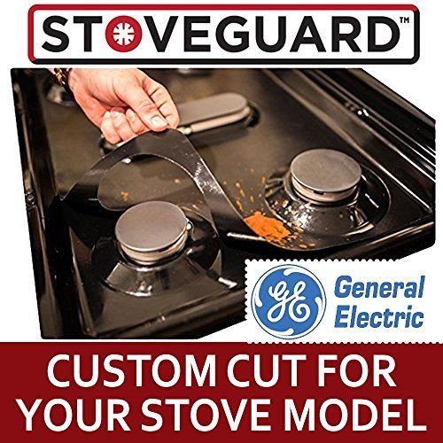 GE Stove Protectors - Stove Top Protector for General Electric Gas Ranges - Ultra Thin Easy Clean Stove Liner by StoveGuard