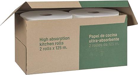 Dalia - Caja de 2 maxi-rollos multiusos (125m) de papel ecológico sin blanquear: Amazon.es: Salud y cuidado personal