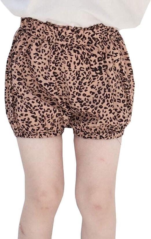 Wofupowga Girl Fashion Stripe Elastic Waist Sports Cute Short
