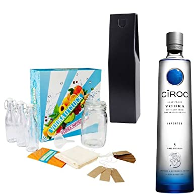 Ciroc Ultra Premium Vodka Infusions Gift Set With Handcrafted Gifts2Drink Tag: Amazon.co.uk: Grocery