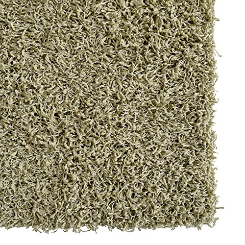 iCustomRug Bella Shag Rug - Luxurious and Thick Olive Green 4 Feet X 6 Feet (4' x 6') Soft & Shaggy Double Textured Fiber For A Modern Home Decor