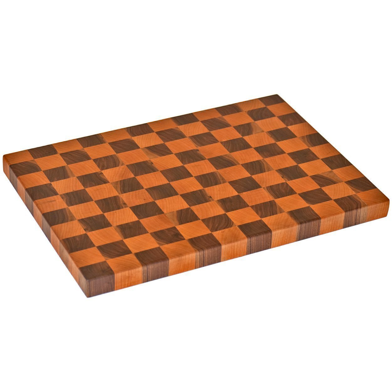 Handmade Cherry Walnut End Grain Wood Cutting Board Reversible Wood Butcher Block Large Chopping Board by The Practical Plankist