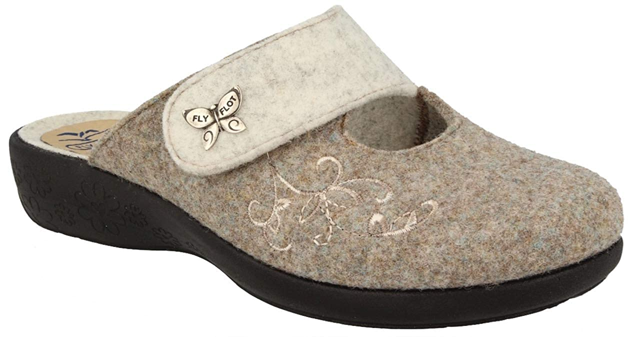 Fly Flot L3N57 TT Rovere Ciabatte Donna Made in Italy Zeppa