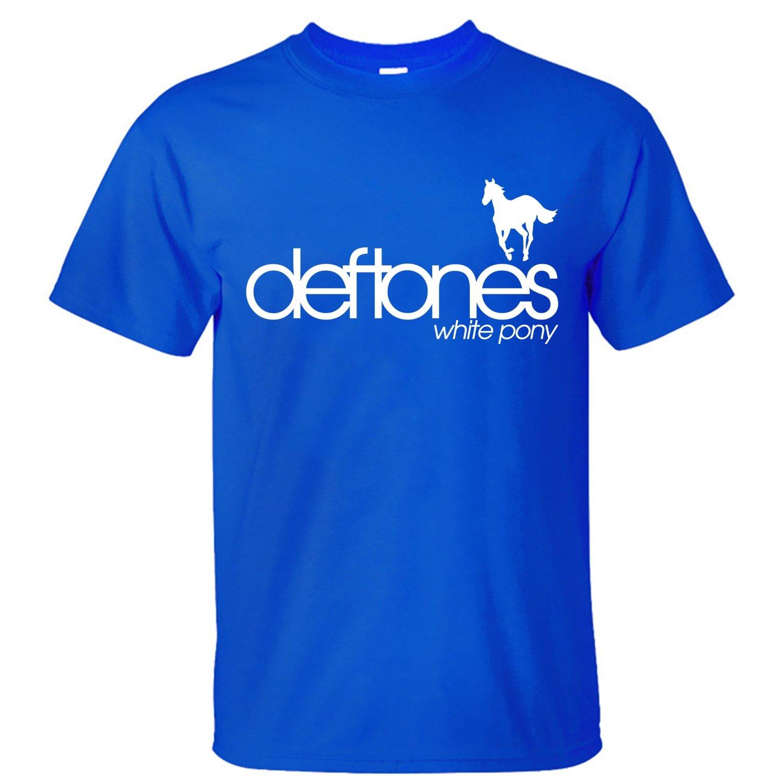 T shirt deftones white pony - Shine Deftones White Pony Men S T Shirt Short Sleeves Blue Xl Bear B Cue Com