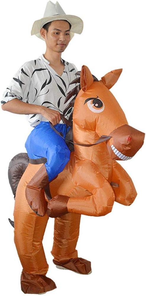 Vxhohdoxs disfraz de vaquero inflable para caballo, disfraz para ...
