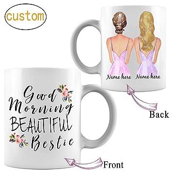 Amazoncom Personalized Funny Good Morning Bestie Coffee Mug Best
