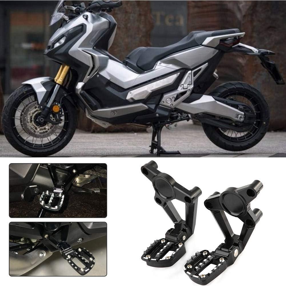 Pedaliera per passeggero-Motociclo Pedaliera per passeggero posteriore Kit pedale per pedana adatto per X-ADV 750 17-19 Nero assoluto