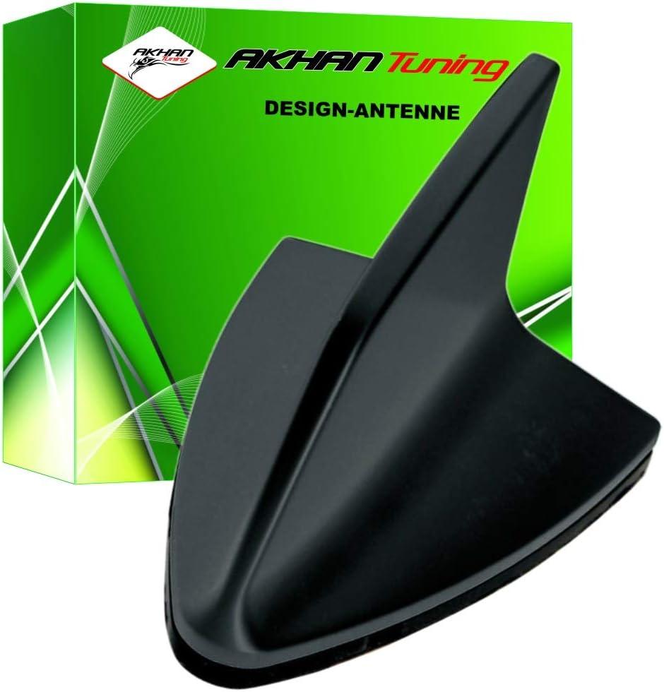 ANTB288 - SHARK ANTENA Antena Aleta de tiburón en forma de coche decorativo Antena DUMMY antena de techo NEGRO SPORT