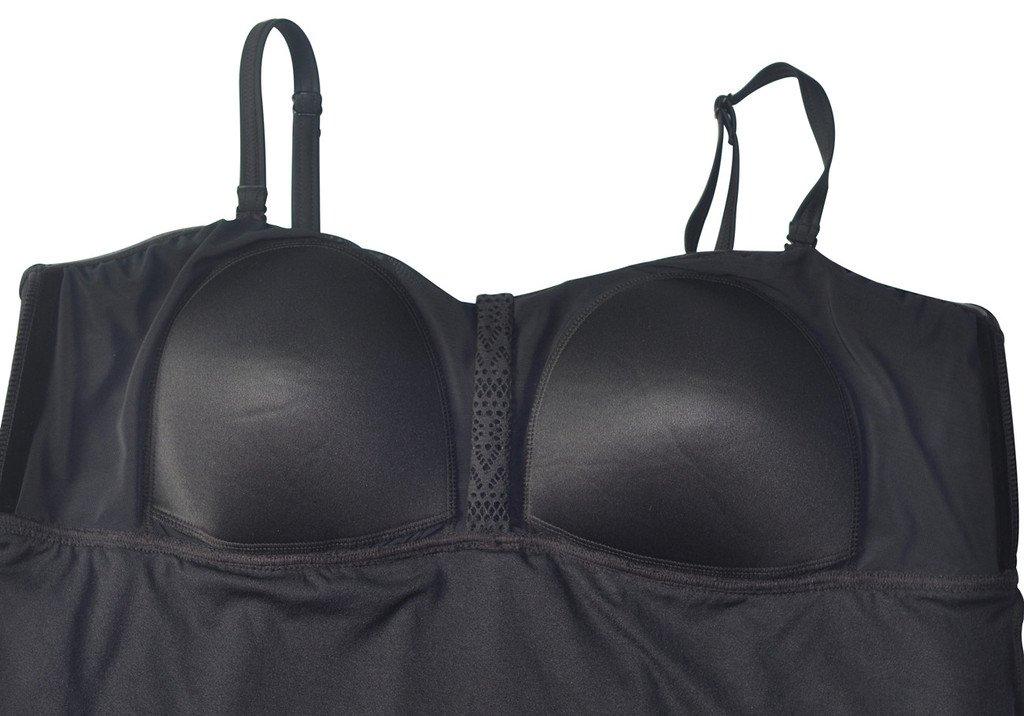 a18732c1e3 Alove Womens Tankini Sets Boyleg Shorts Crochet Two Piece Swimsuit Flyaway Swimming  Costume
