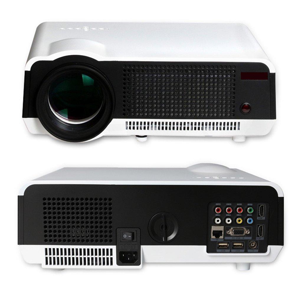 スマートテレビプロジェクターホームシアターフルHD新しいアンドロイドWIFIプロジェクターLCD LED 3000Lumens 3D WifiホームシアターTV LEDプロジェクター1080pビデオゲームプロジェクター [並行輸入品]   B076J443W9