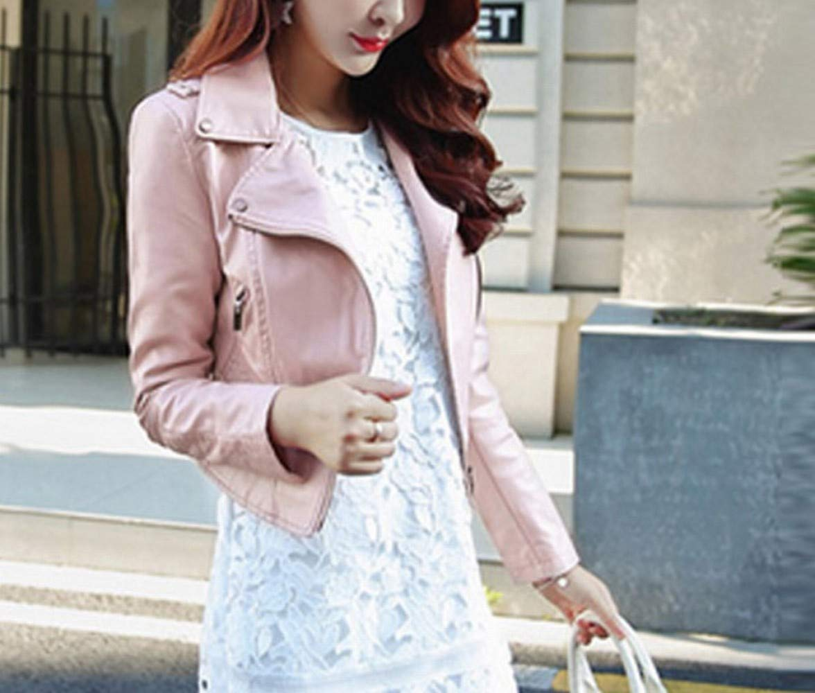 Pink Fashion Short Dress Women's Spring and Autumn New Coat Lapel Pink Black Jacket SEDD