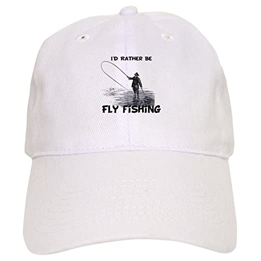 537896eab66d9 Amazon.com  CafePress - Fly Fishing - Baseball Cap with Adjustable Closure