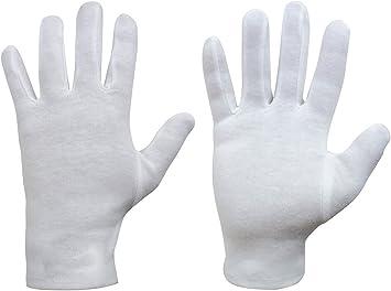 20x Guantes Blancos 100% de Algodón Talla Estandar Muñeca sin elastico 2824_20: Amazon.es: Salud y cuidado personal