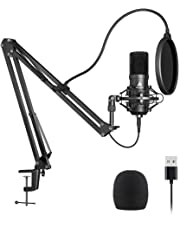 USB Microphone Kit 192KHZ/24BIT Plug&Play MAONO AU-A04,Computer Cardioid Mic Podcast Condenser Microphone with Professional Sound Chipset for Laptop PC Karaoke, Skype, YouTube, Gaming Recording