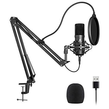 USB Microphone Kit 192KHZ/24BIT Plug&Play MAONO AU-A04,Computer Cardioid  Mic Podcast Condenser Microphone with Professional Sound Chipset for Laptop