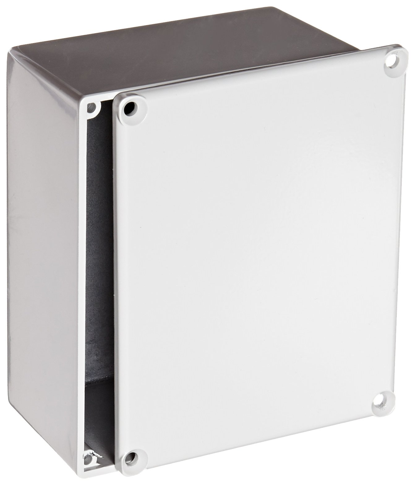 BUD Industries CU-234-G Aluminum Econobox, 4-43/64'' Length x 3-43/64'' Width x 2-13/64'' Height, Gray Painted Finish by BUD Industries (Image #1)