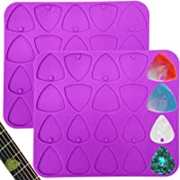 2 Pieces Guitar Picks Resin Molds Pendant Molds, For DIY Handmade Craft Musical Instrument Accessories Plectrums for…
