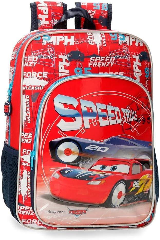 Disney Cars Speed Trails Mochila, 38cm, Rojo
