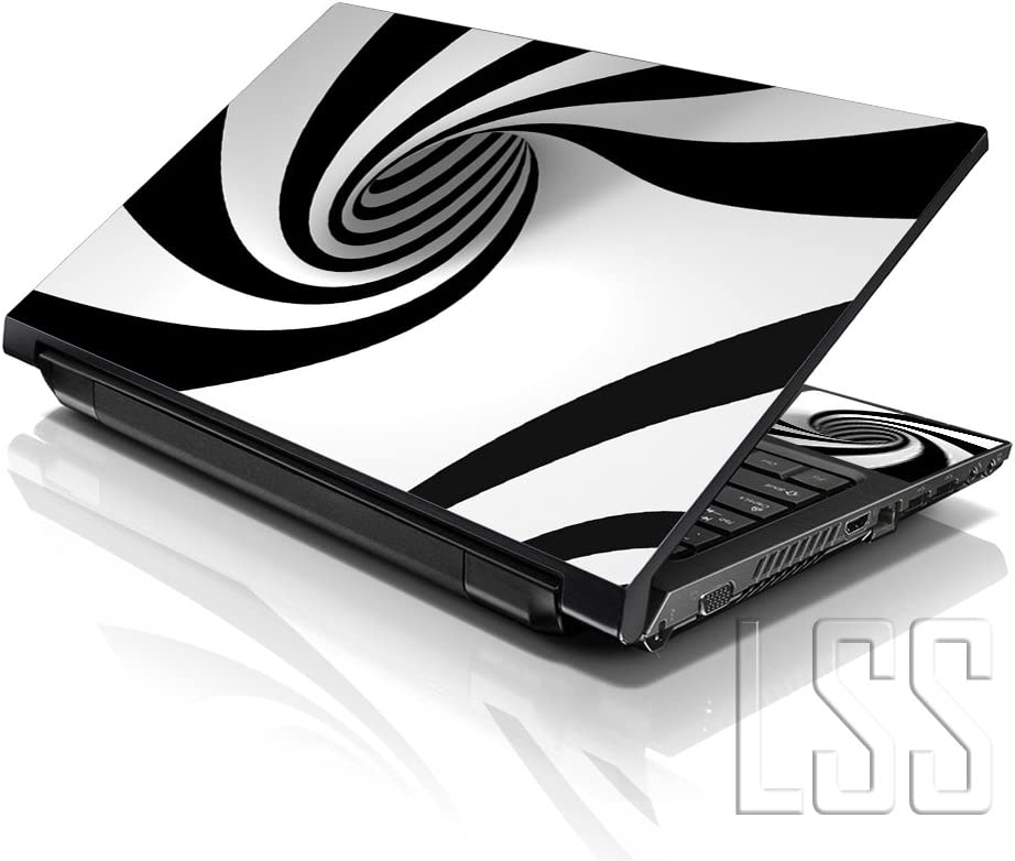 "LSS Laptop 17-17.3"" Skin with Colorful Tornado Swirl Pattern for HP Dell Lenovo Apple Asus Acer Compaq - Fits 16.5"" 17"" 17.3"" 18.4"" 19"" (2 Wrist Pads Free)"