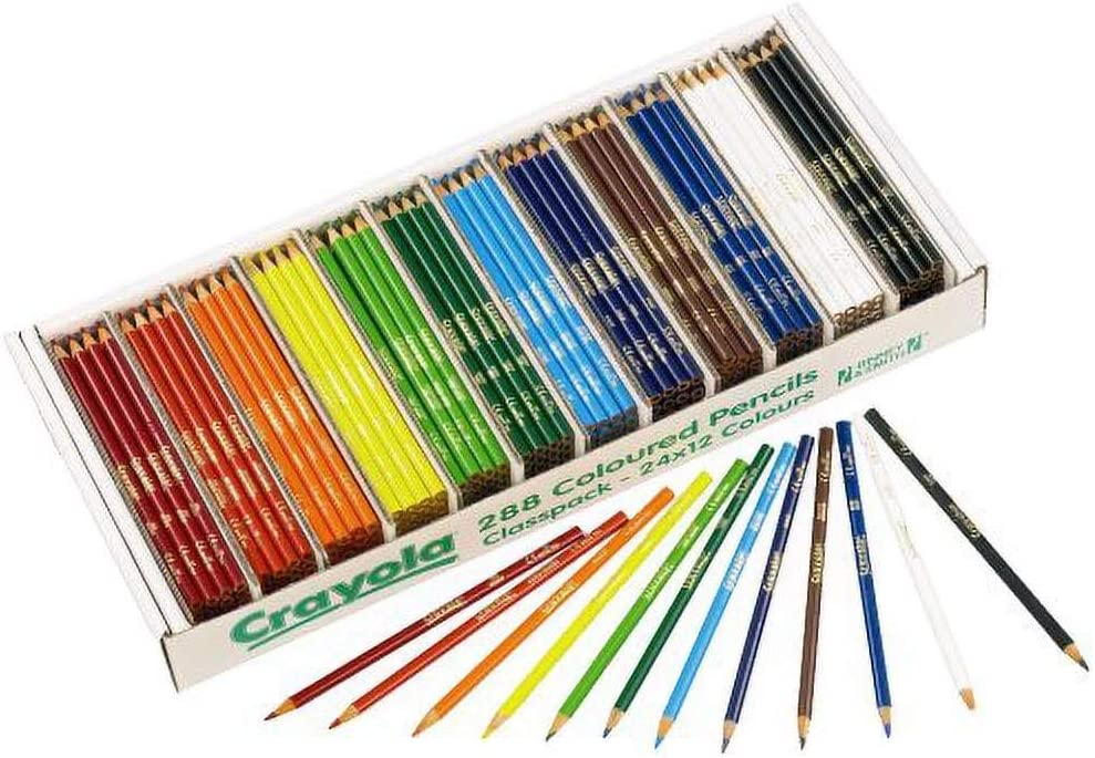 Crayola 3.3685 Colouring Pencils 288 Class Pack