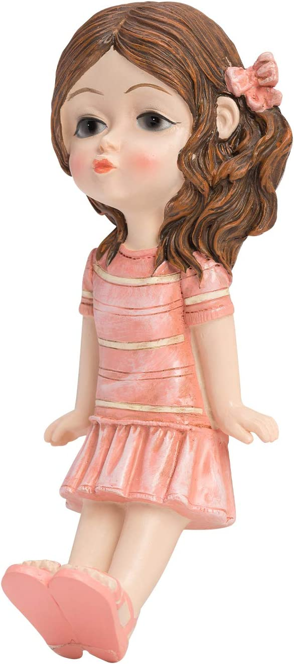 Exclusively Designed /& Handcrafted Cutie Girl Wall Decoration Hook 8KG MAX Weight Great for A Lovely Lifestyle Home D/ÉCOR Handcraft Soft Pink Gifts