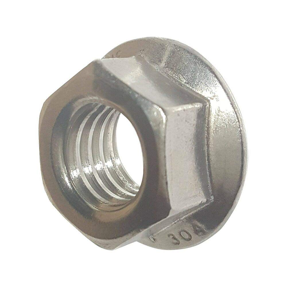 Qty 500 10-24 Stainless Steel Flange Nuts Serrated Base Lock Anti Vibration by IM Vera
