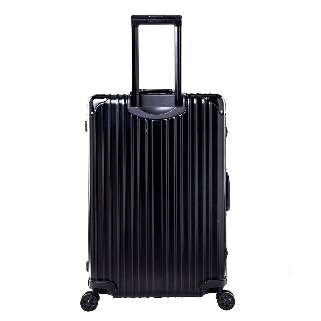 Expandable Spinner Hard Shell Suitcase Lightweight Carry On Luggage (22 inch, black)