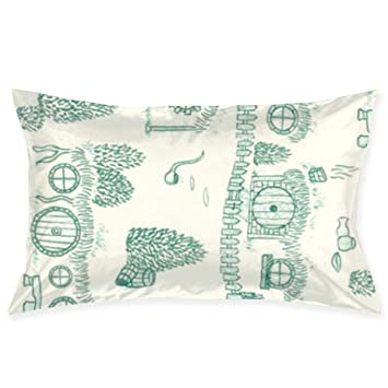 Homemade Flannel Teal /& Blue Christmas Unicorns Pillowcase cotton std size