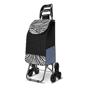 Escaleras de Escalada Carros de Compras Remolques Plegables portátiles para el hogar Paquete Desmontable Un Coche de Doble Uso de Gran Capacidad con Ruedas ...