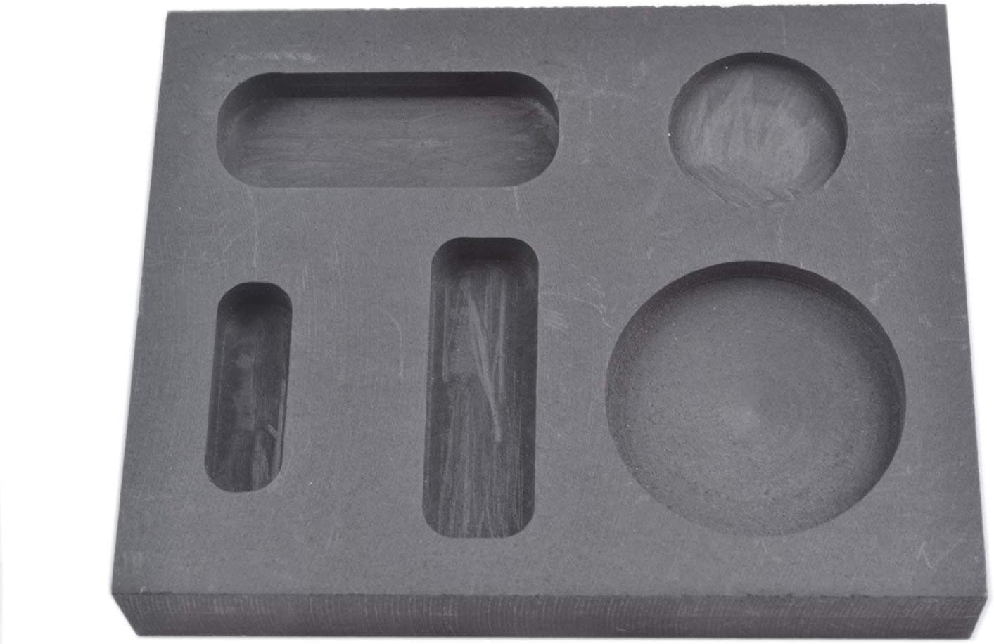 Graphite ingot to cast various weight of gold coins