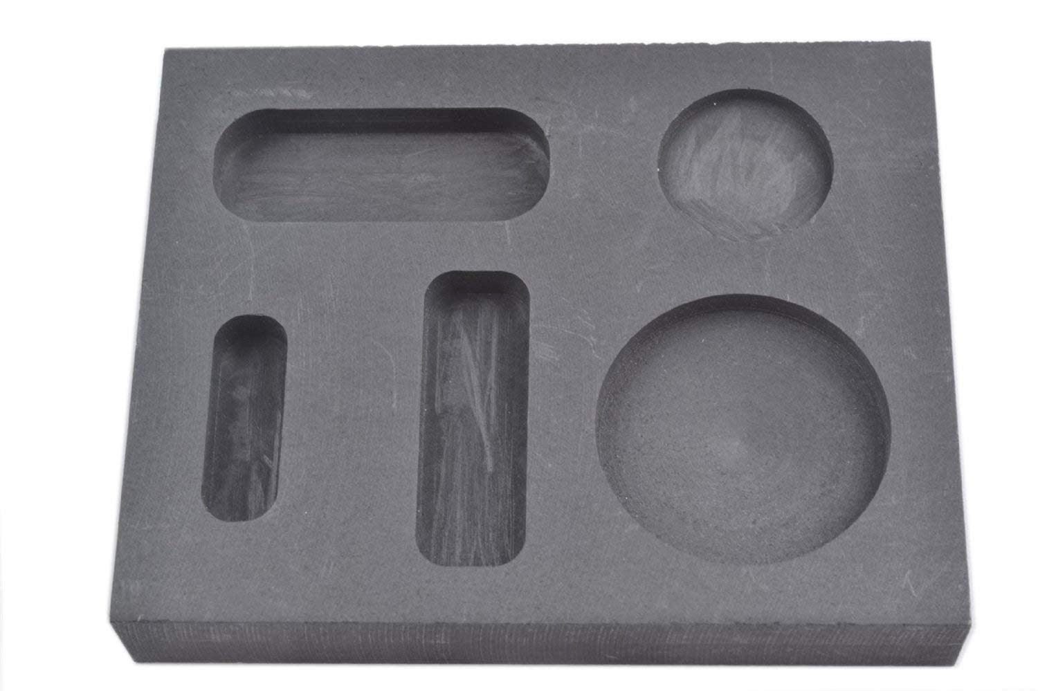 OTOOLWORLD Graphite Ingot Mold 1/4 1/2 1 Ounce Gold Melting Casting Refining also silver with Bar Coin Combo mould Combo.1