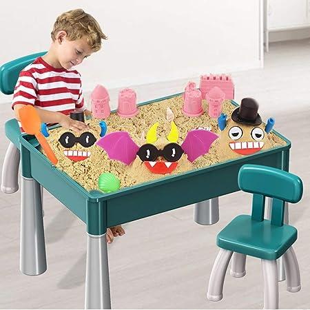 Juegos al Aire Libre Mesita para Niños Los niños de arena juguete Tabla multifuncional rompecabezas Playa